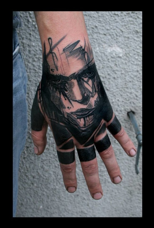 Tattoo artist boris backert aus deutschland dc invention company - Tatouage sur la main homme ...